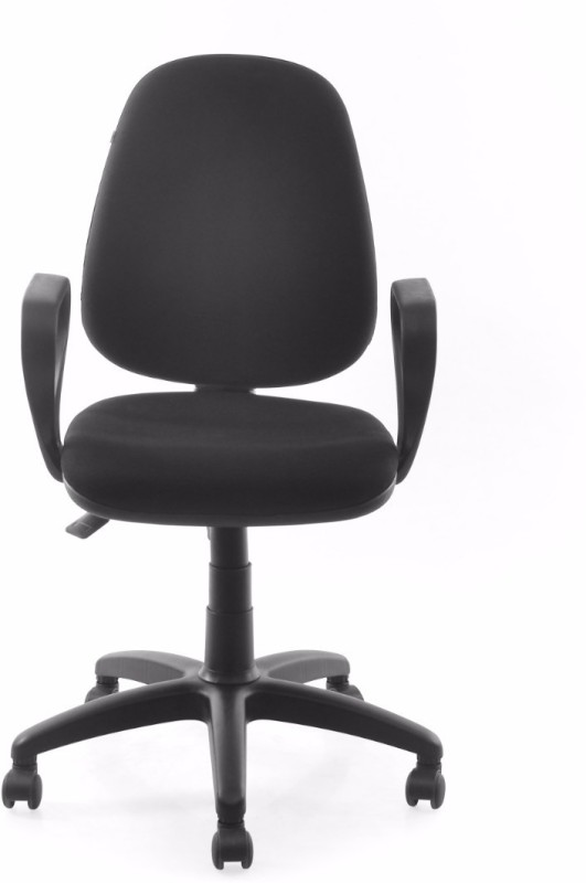 Nilkamal Finesse Fabric Office Arm Chair(Black)