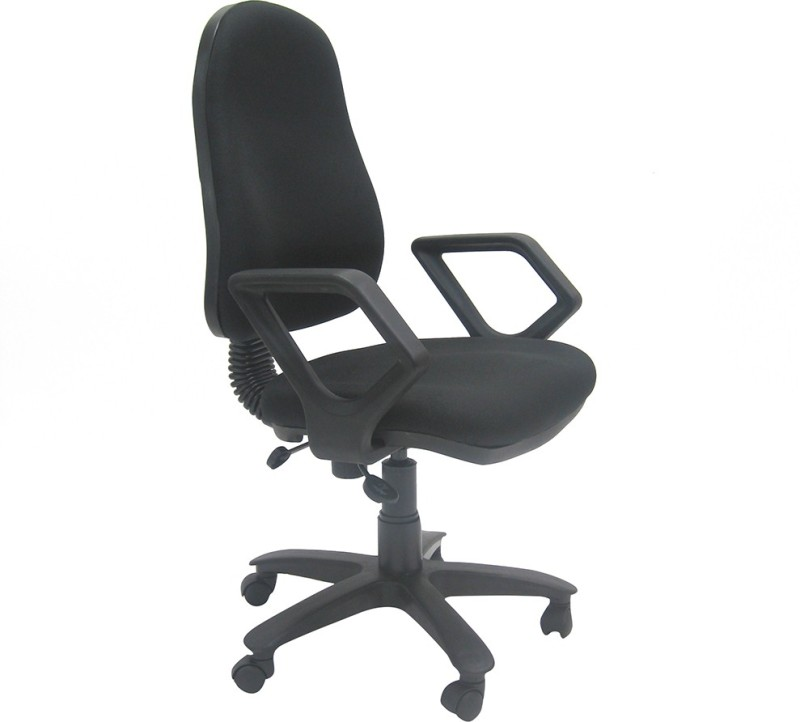 Chromecraft Fabric Office Arm Chair(Black)