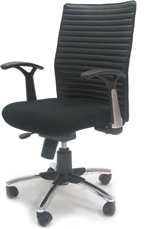 Chromecraft Leatherette Office Arm Chair(Black)