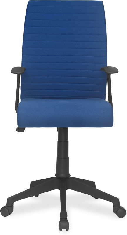 Nilkamal Thames Leatherette Office Arm Chair(Blue)