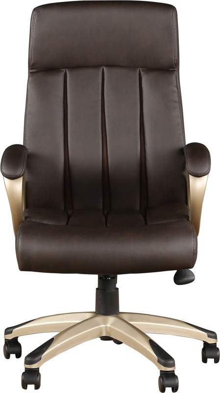 HomeTown HENRY Leatherette Office Arm Chair(Black)