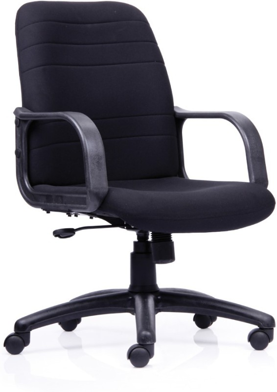Durian Chaste-Mb Fabric Office Arm Chair(Black)