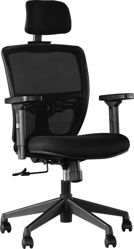 HomeTown ASPIRE Fabric Office Arm Chair(Black)