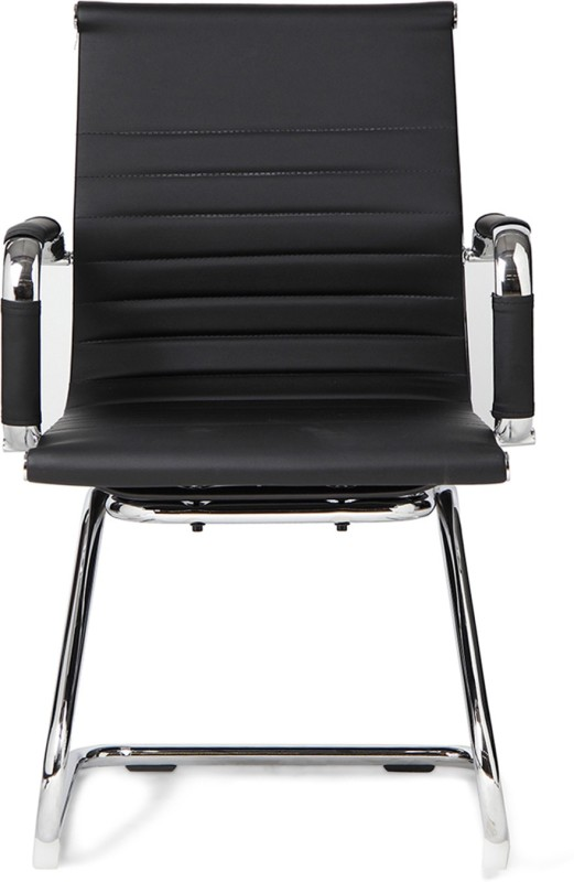 HomeTown Astra Leatherette Office Arm Chair(Black)