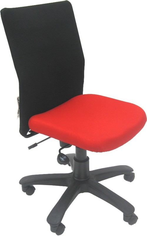 Chromecraft Fabric Office Arm Chair(Red)