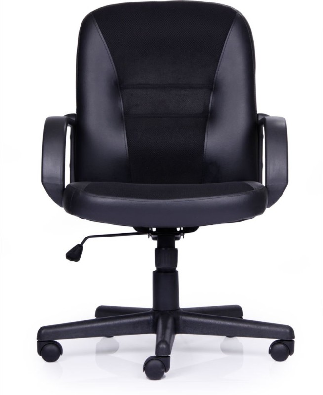 Durian BLISS Leatherette Office Arm Chair(Black)