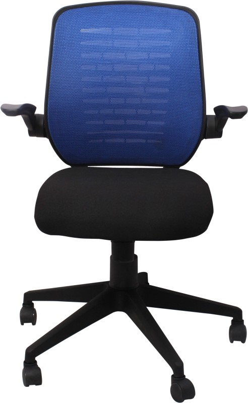 woodstock india fabric office arm chair blue black lowest price in