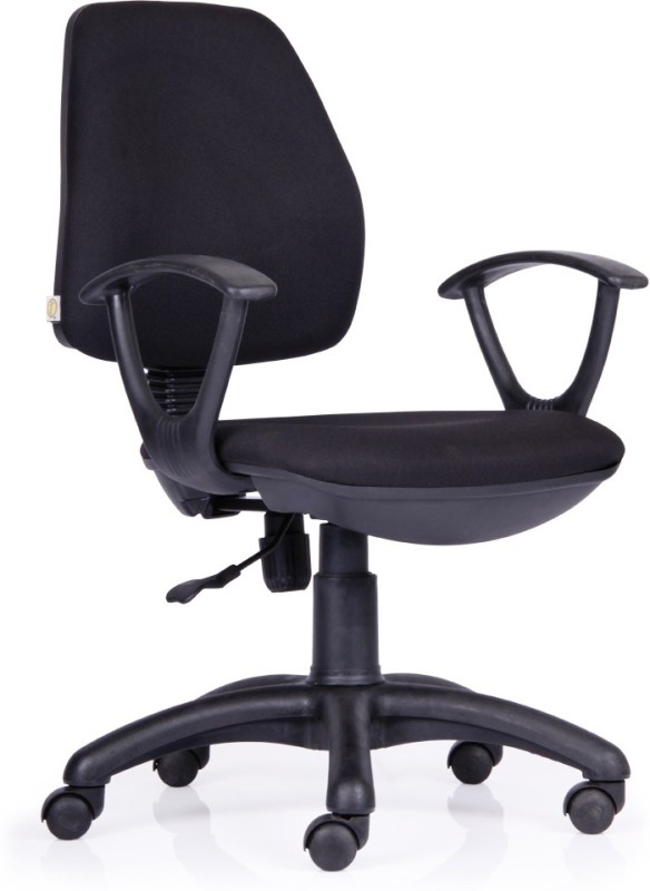 Durian Curio Fabric Office Arm Chair(Black)