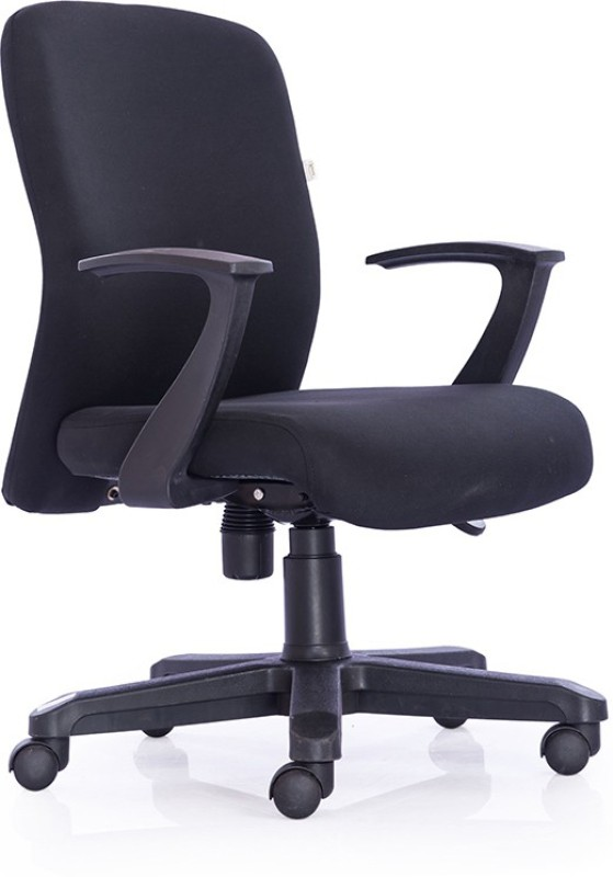 Durian Oxford-Mb-Black Fabric Office Arm Chair(Black)