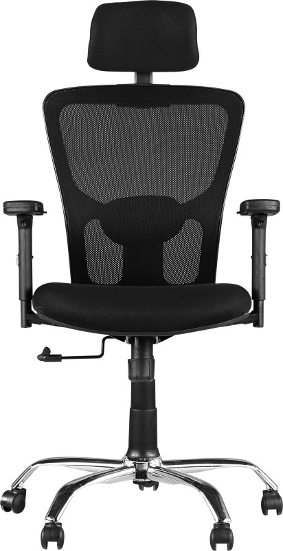HomeTown OLIVIA Leatherette Office Arm Chair(Black)