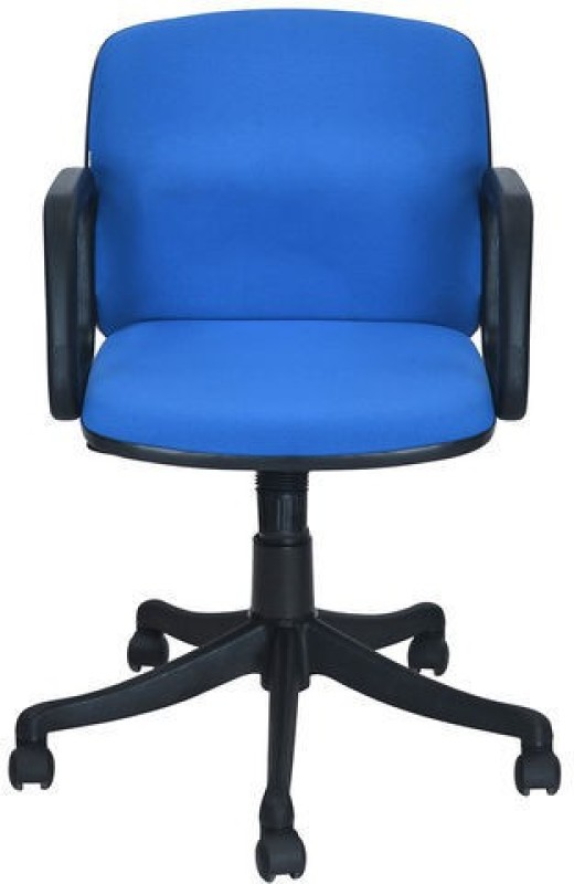 Nilkamal Lead Fabric Office Arm Chair(Blue)