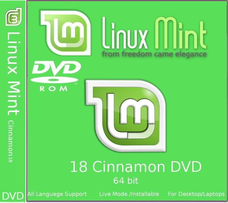 Linux Mint 18 Cinnamon DVD 64 bit