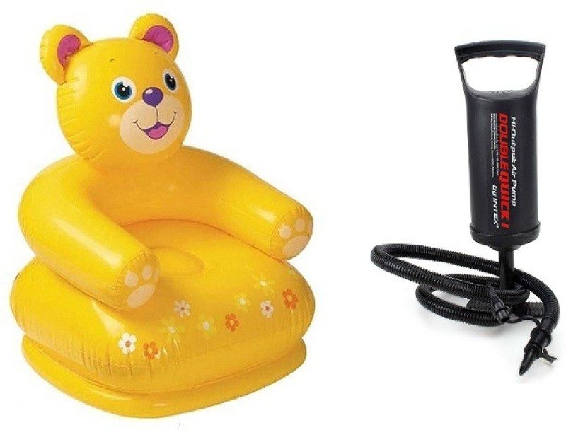 Flying Toyszer Teddy Kiddie Chair Inflatable Chair With Air Pump(Multicolor)