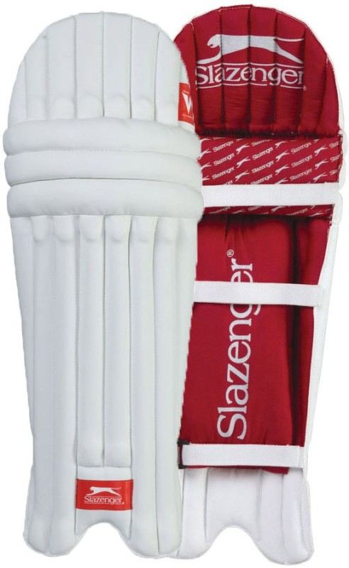 Slazenger Academy Youth (36 - 38 cm) Batting Pad(White, Right-Handed)
