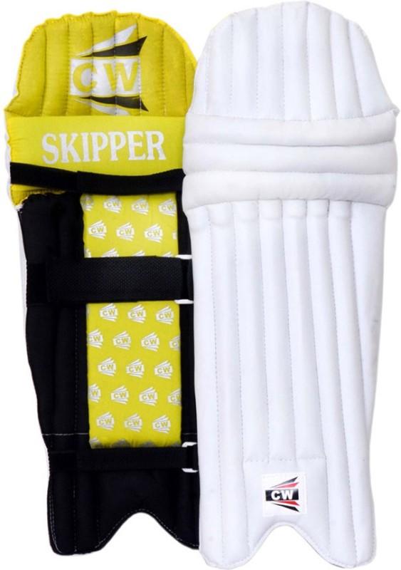 CW Skipper Men's (39 - 43 cm) Men Batting Pad(White, Yellow, Black, Ambidextrous)