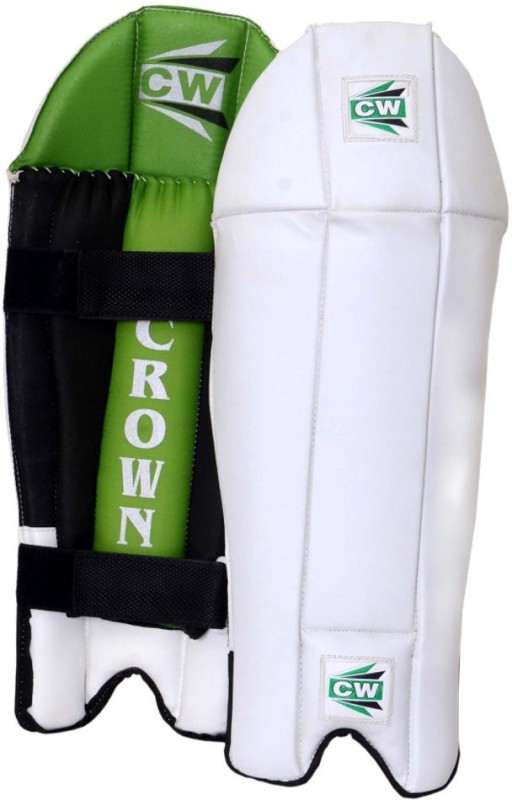 CW Crown Men's (39 - 43 cm) Men Wicket Keeping Pad(White, Green, Ambidextrous)