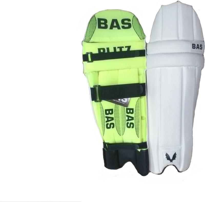 BAS Vampire Blitz Men's (39 - 43 cm) Batting Pad(White, Green, Ambidextrous)
