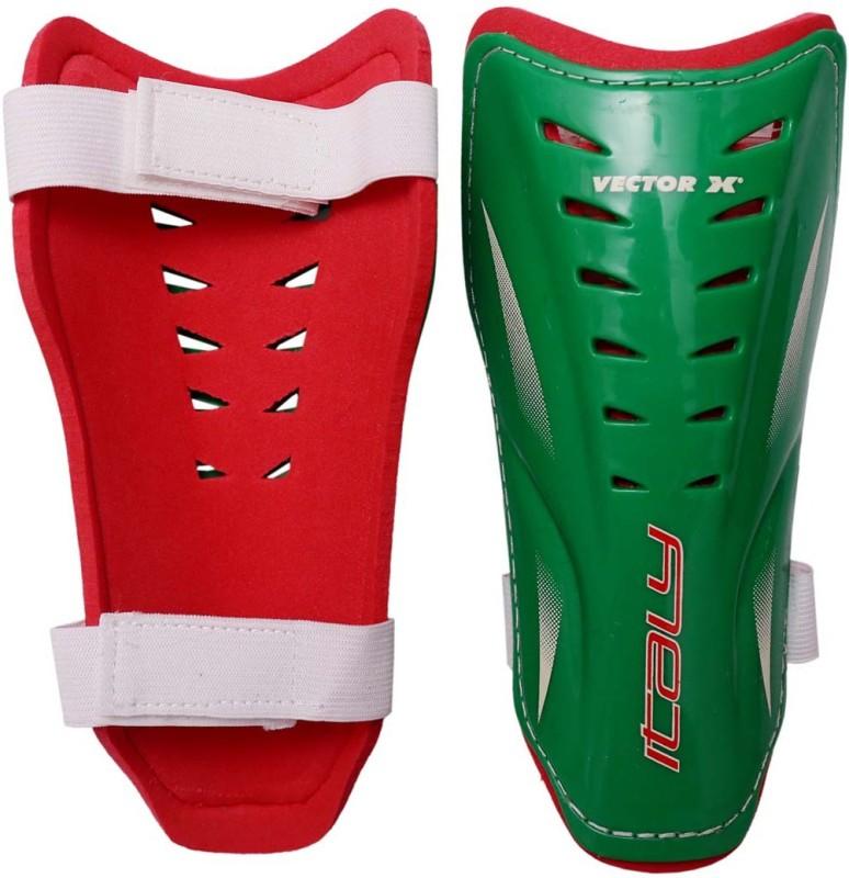 Vector X Italy Medium Football Shin Guard(Green, Red)