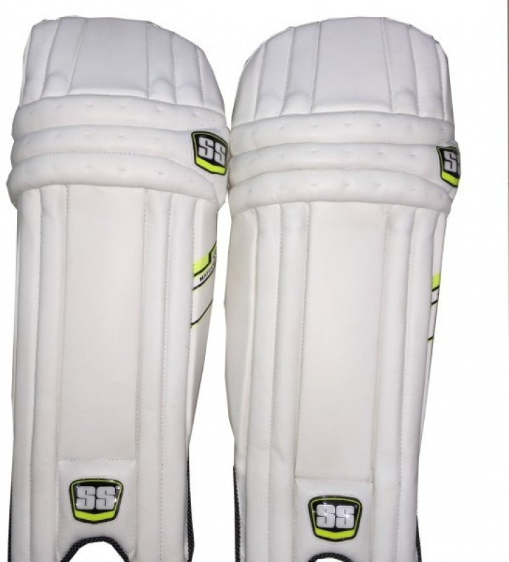 SS Match Men's (39 - 43 cm) Batting Pad(White, Green, Right Hand)