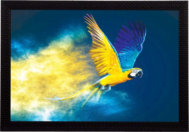 eCraftIndia Flying Bird Satin Matt Textured UV Art Canvas 14 inch x 20 inch Painting