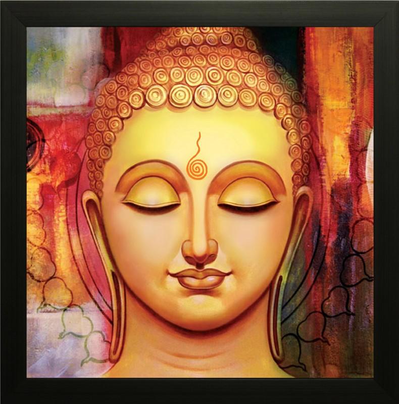 SAF Buddha Ink Painting(13 inch x 13 inch)
