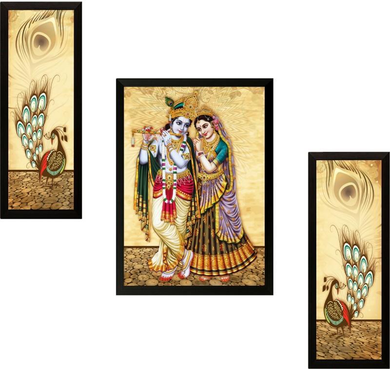SAF Radha Krishna Ink Painting(13 inch x 19 inch)