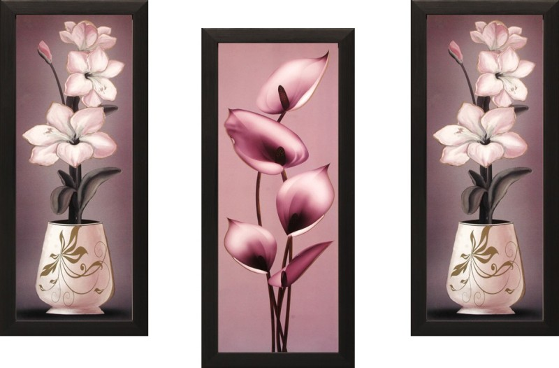 SAF Floral Set Of 3 Ink Painting(16 inch x 7 inch)