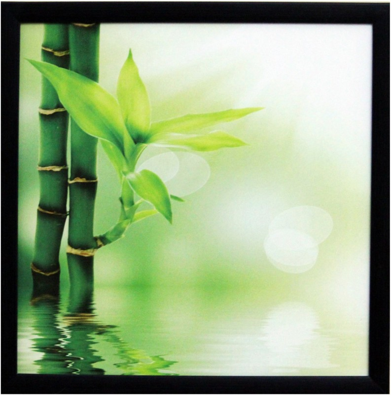 eCraftIndia 3d Beautiful Plant Canvas 11 inch x 11 inch Painting