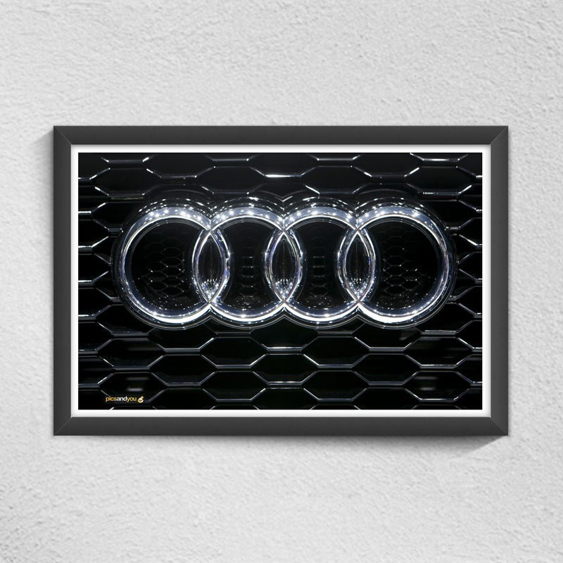 Pics and You Audi Car Logo Digital Reprint Painting(12 inch x 18 inch)