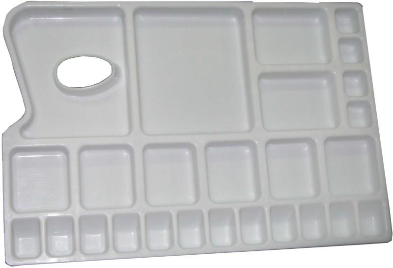 Eascan Art Plastic 25 Paint Wells Palettes(Set of 1, White)