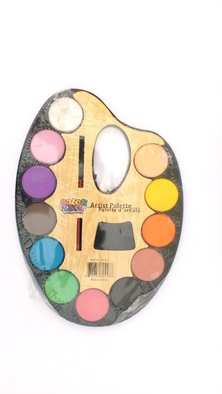 Asa Products plastic 12 Paint Wells Palettes(Set of 1, Multicolor)