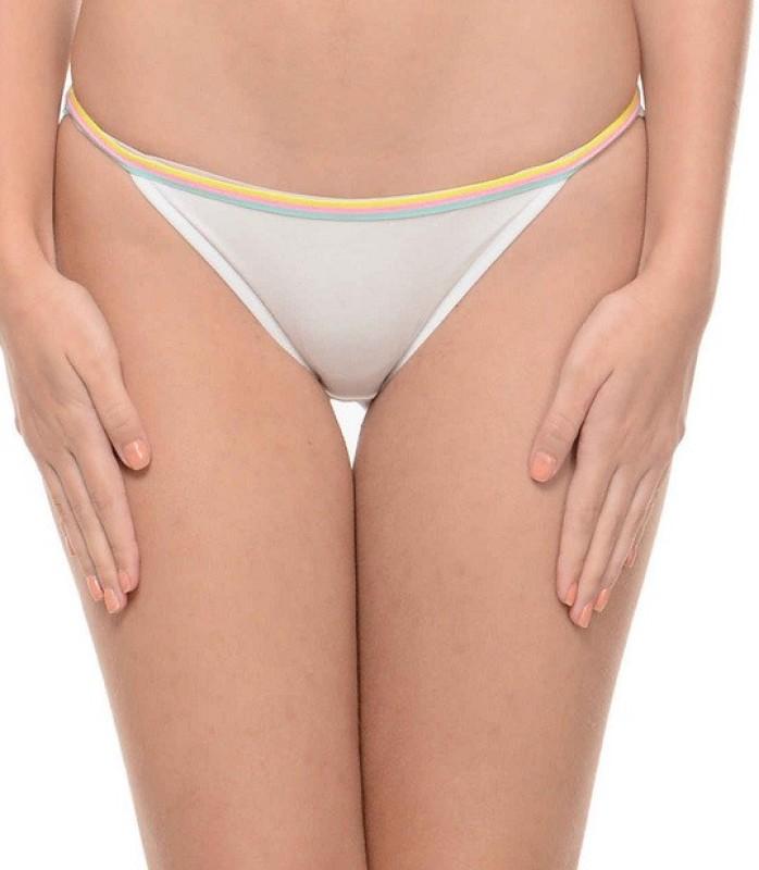 Ploomz Fashion Women Bikini White Panty(Pack of 1)