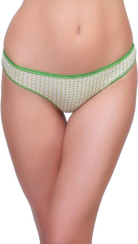 Inner Sense Womens Thong Green Panty(Pack of 1)