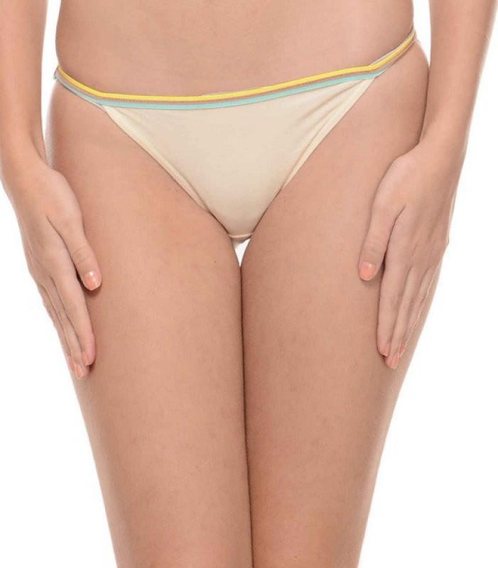 Ploomz Fashion Women Bikini Beige Panty(Pack of 1)