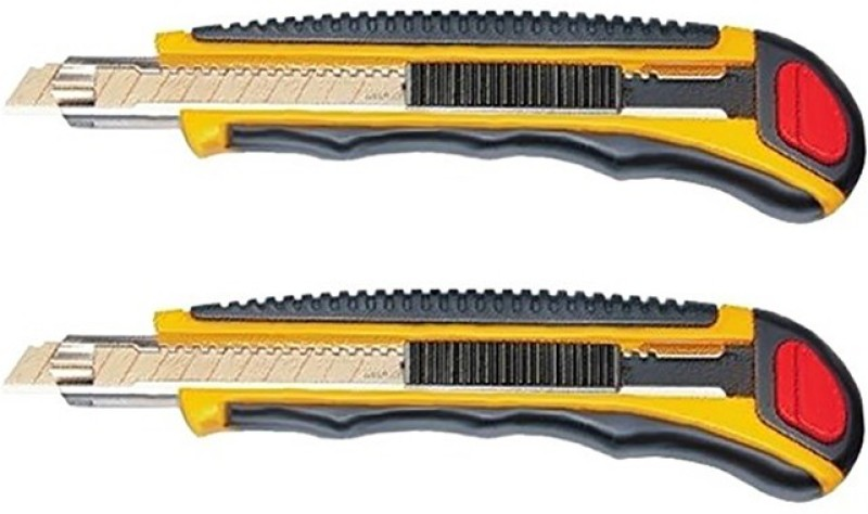 Misaki Auto load Rubber Grip Hand-held Paper Cutter(Set Of 2, Yellow)