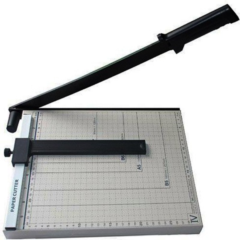 Namibind Cutter Plastic Grip Hand-held Paper Cutter(Set Of 1, Shady White, Black)