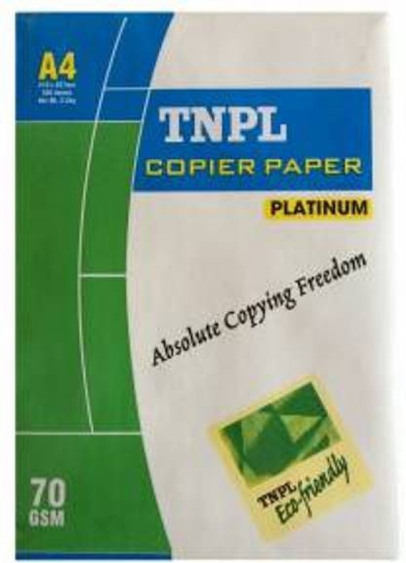 TNPL 70 GSM Unruled A4 A4 paper(Set of 1, White)