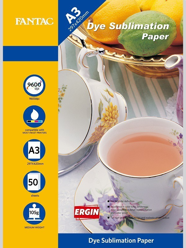 Fantac Matte Coated Dye Sublimation Paper A3 Sublimation Mug Printing Paper(Set of 1, White) FBMC105G3050