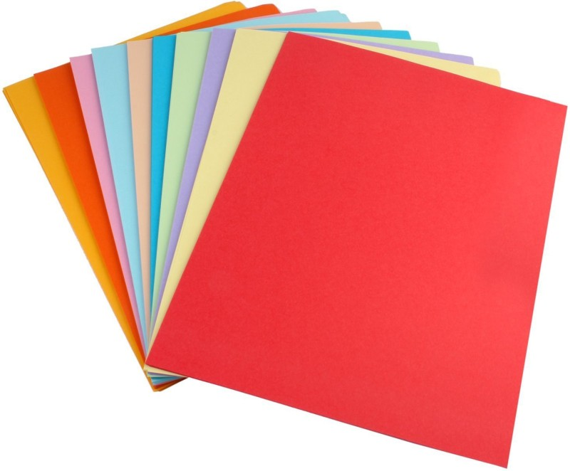 AND Retails Premium Range 250 Sheets, 10 Colour, 80GSM Unruled A4 Coloured Paper(Set of 1, Multicolor)