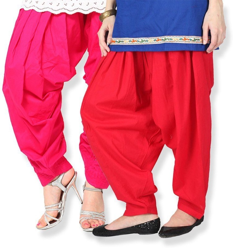 Shiva Collections Cotton Solid Patiala