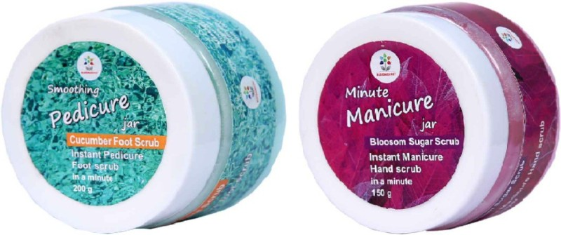 Blooms Berry Minute Manicure and Smoothing Pedicure Jars(350 g, Set of 1)