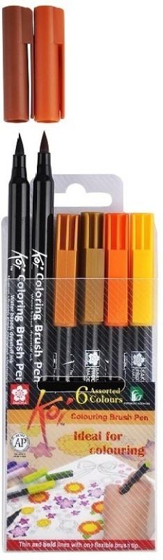 Sakura Koi Coloring Brush Pen Calligraphy(Pack of 6)