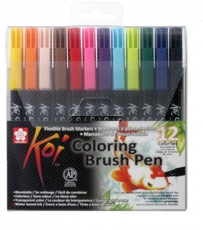 Sakura Koi Coloring Brush Calligraphy(Pack of 12)