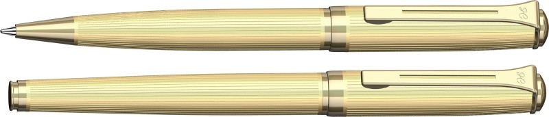 Henry Coleman Langestreifen Collection Aspire Gold Ballpen and Roller Set Pen Gift Set(Pack of 2)