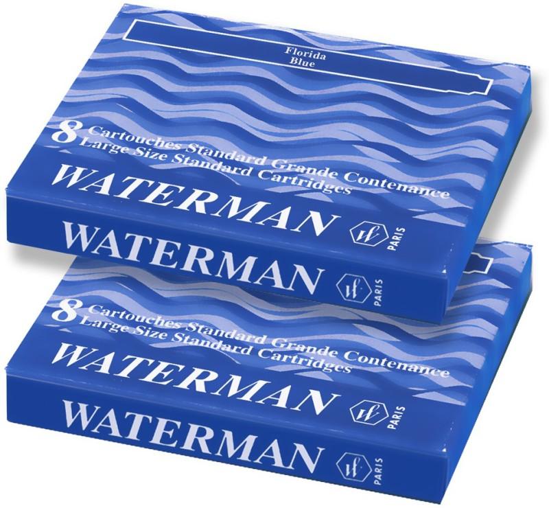 Waterman Blue Ink Cartridge(Pack of 2)