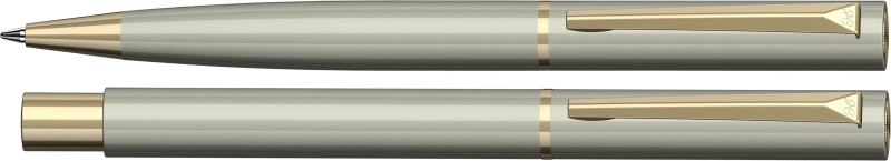 Henry Coleman Debonair Collection Imperia Silver Metal Ballpen and Roller Set Pen Gift Set(Pack of 2)