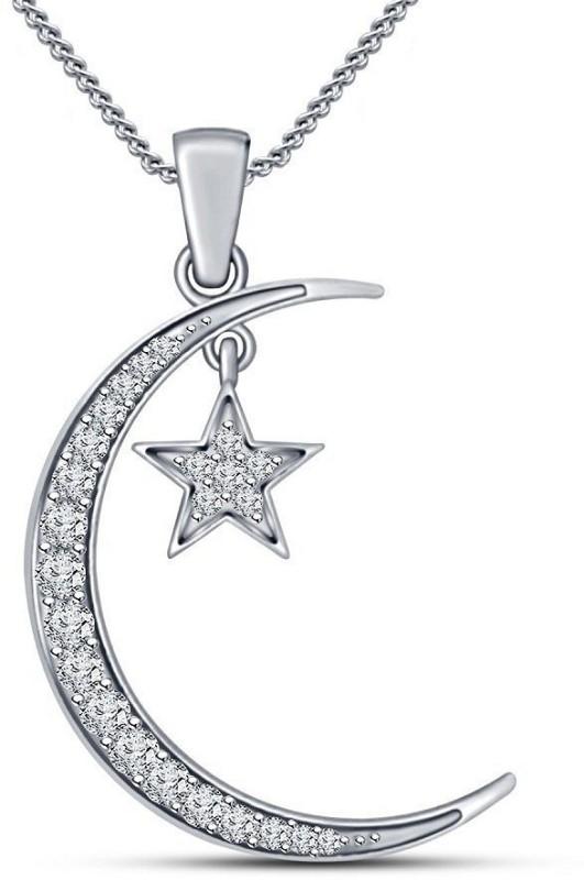 Kirati Allah Religious Platinum Cubic Zirconia Sterling Silver Pendant