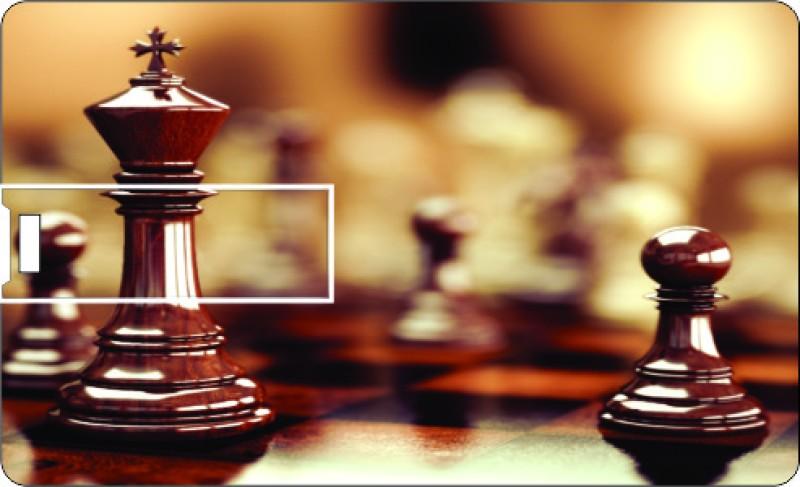 Printland Credit Card Chess Play 8 GB Pen Drive(Multicolor)