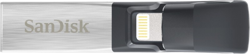 SanDisk iXpand Flash Drive 128 GB OTG Drive(Grey, Type A to Lightning)