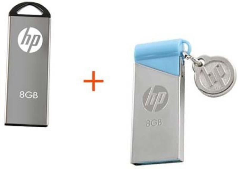 HP V220W-V215B 8 GB Pen Drive(Silver, Blue)
